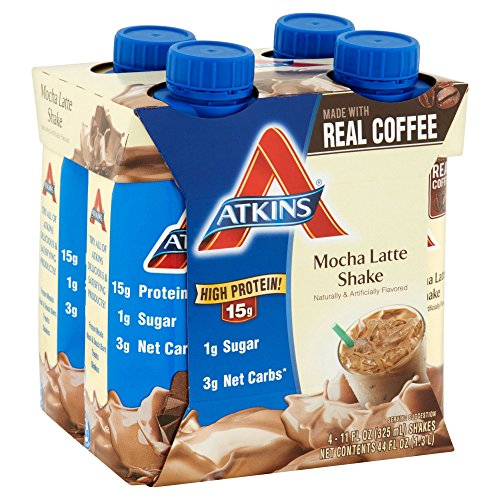 Atkins Ready To Drink Shake, Mocha Latte, 11 Ounce, 4 Count