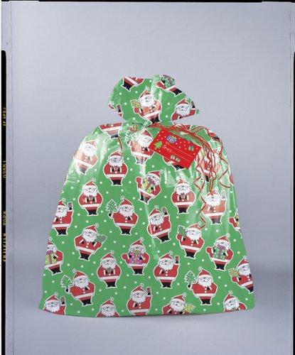 Jumbo Plastic Santa Christmas Gift Bag (Christmas Wrapping Bags)