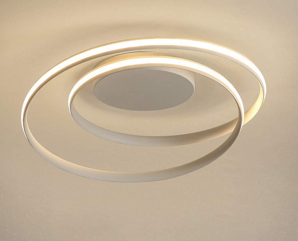 50W Modern LED-Deckenlampe Modern Deckenleuchte Spirale Disign Minimalistisch Ring aus Metall und Acryl Blume für Esszimmer Wohnzimmer Schlafzimmer Terasse Kaltweiß Ø46*12CM 3500LM