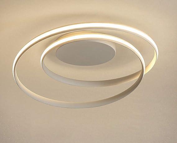 Plafoniere Camera Da Letto Moderne : Plafoniera a led da w moderna spirale minimalista anello