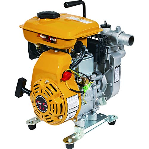 XtremepowerUS 2.5 HP 2-Stroke 1,980 GPH Gas-Powered Portable Water Pump Transfer Gas-Powered 1.5-inch ()