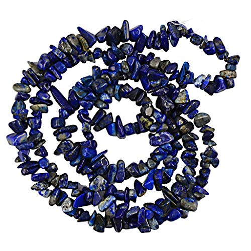 - Calvas 4-9mm Lapis Lazuli Freefrom Chip Loose Beads Strand Fashion Jewelry for Necklace Bracelets and Earrings 35 Inch