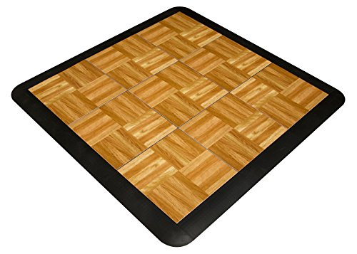 (SnapFloors 3X3OAKFLOOR Modular Dance Floor Kit (3' x 3'), OAK, 21 Piece)