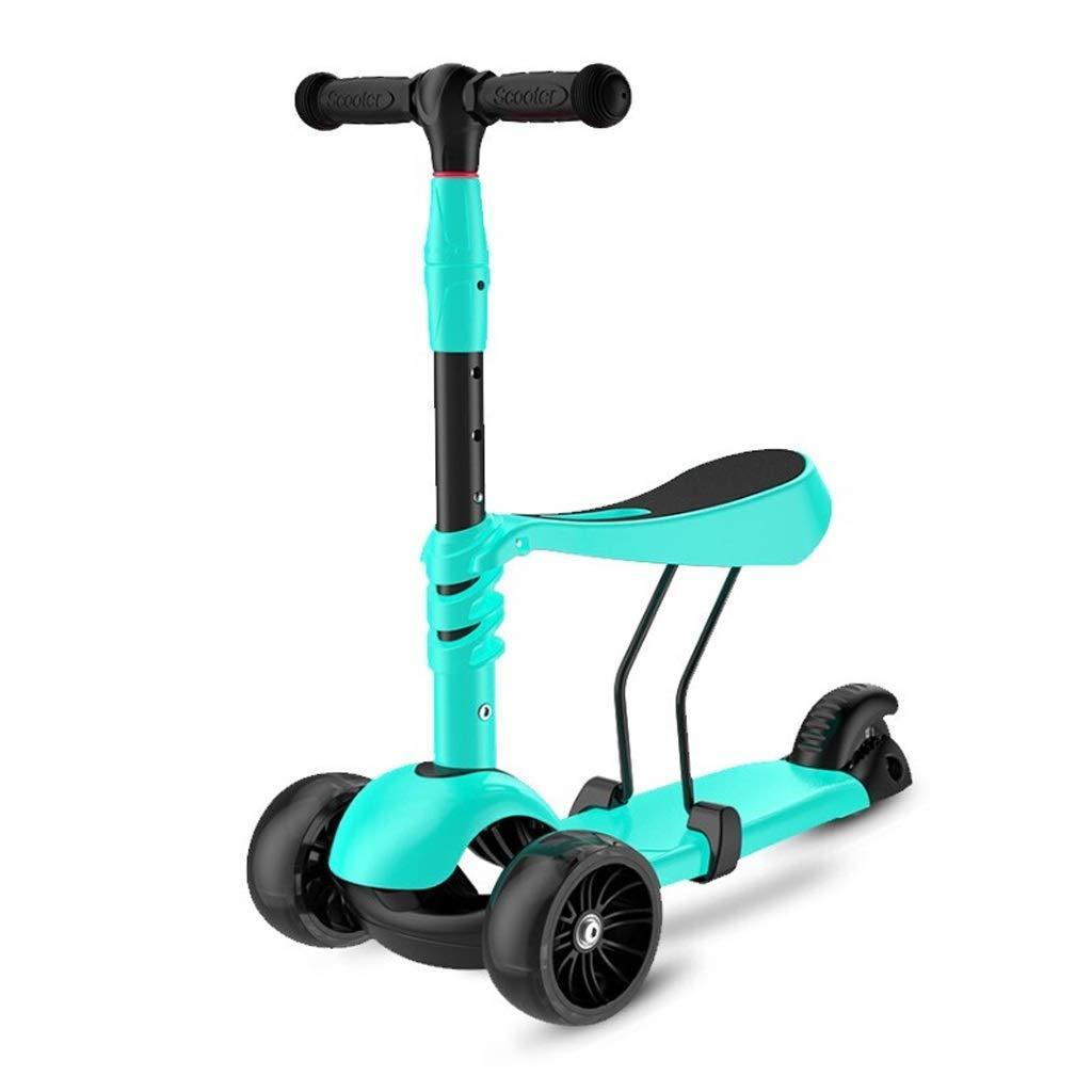 【超安い】 3-in-1キッズキックスクーター、取り外し可能&調整可能な座席付き調整可能な3つの車輪のキックスクーター B07PTRJ9CH、男の子女の子年齢2-6のためのLEDライトアップ車輪 Green (色 : Green) Green) Green B07PTRJ9CH, 新川町:569d346a --- senas.4x4.lt