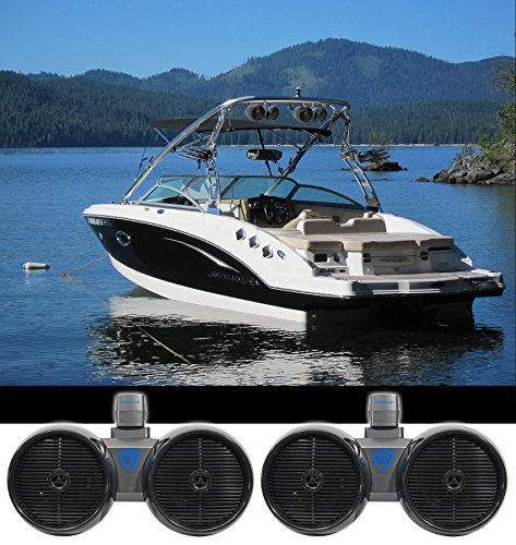 "2 Rockville DWB80B Dual 8"" Black 1600w Marine Wakeboard for sale  Delivered anywhere in USA"