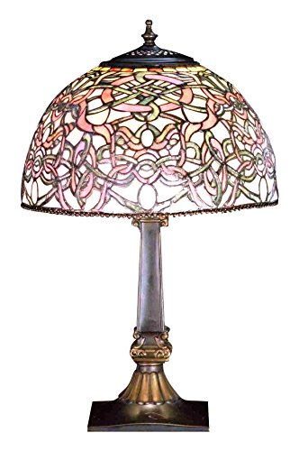 Meyda Tiffany 65724 Jade Scroll Accent Lamp, 19'' Height