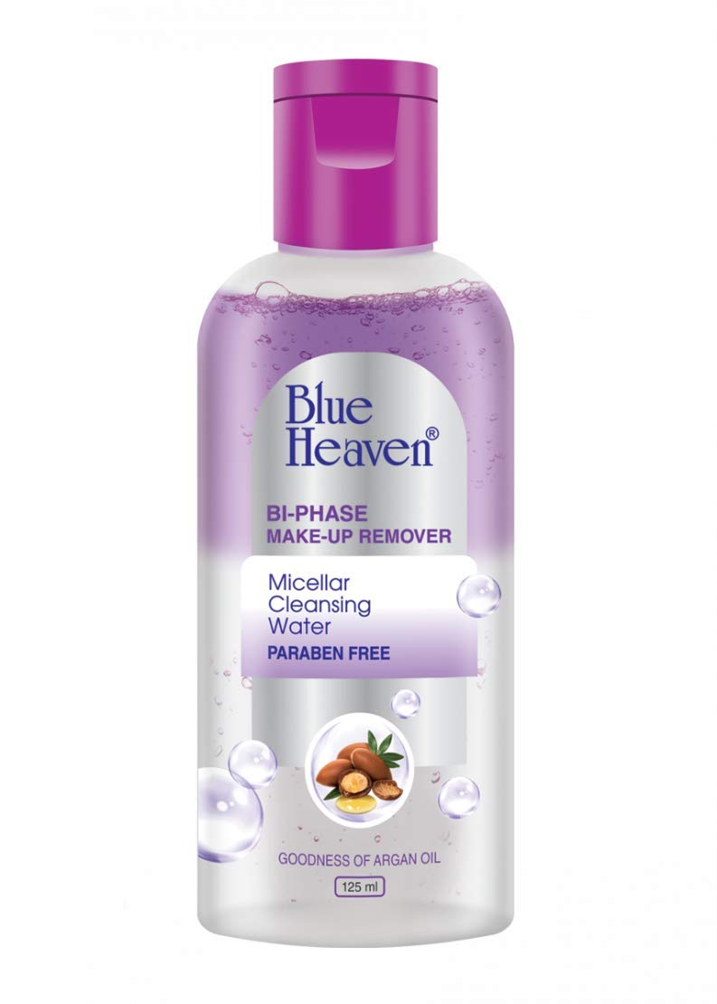 Blue Heaven Bi-Phase Makeup Remover + Micellar Cleansing Water, Clear, 125 ml
