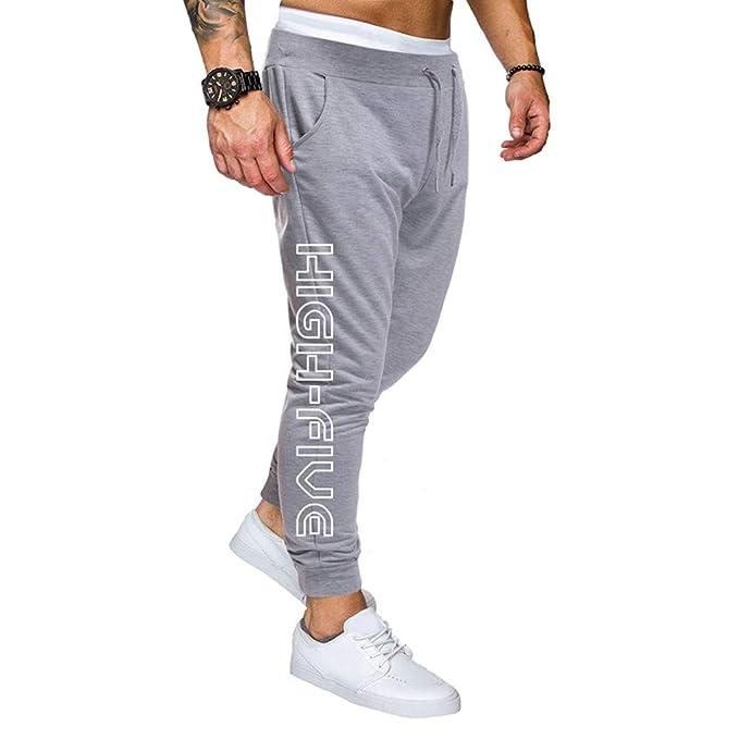JiaMeng Hombre Joggers Jogging Casual Pantalón Sport Slim fit ...