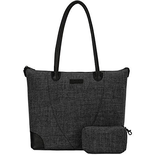 NiceEbag Women Handbag Shoulder Bag Nylon Tote Bag Briefcase Laptop Bag for 15.6 Inch Laptop / Ultra-book / Macbook / Tablet
