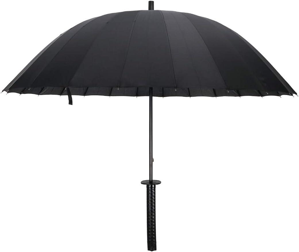 CoolChange Paraguas en Forma de Espada Katana, 120cm, Negro