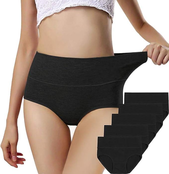 Details about  /VOROSY Women/'s Cotton Underwear High Waist Stretch Briefs Soft Underpants Breath