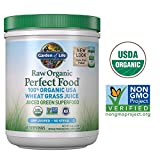Garden of Life Raw Organic Perfect Food 100% Organic USA Wheat Grass Juice - Juiced Green Superfood Greens Powder, 60 Servings - Stevia-Free, Non-GMO, Vegan, Gluten Free Whole Food Dietary Supplement