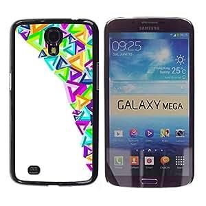 Paccase / SLIM PC / Aliminium Casa Carcasa Funda Case Cover para - Modern Art Triangles Colorful Purple - Samsung Galaxy Mega 6.3 I9200 SGH-i527