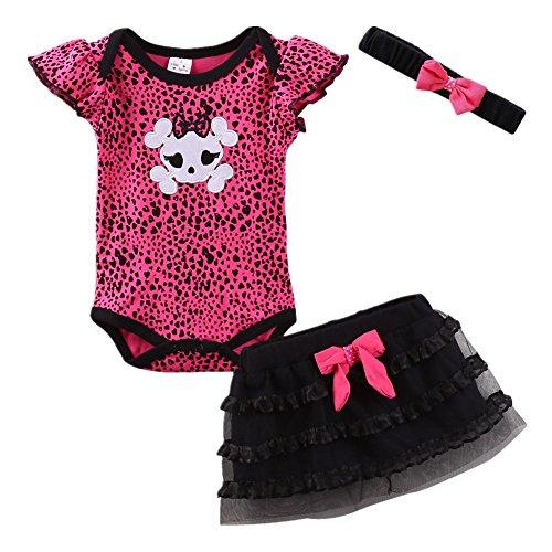 LittleSpring Baby Girls Skirt Set with Headband