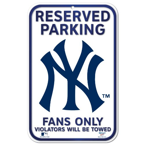 MLB New York Yankees 11-by-17 inch Sign ()