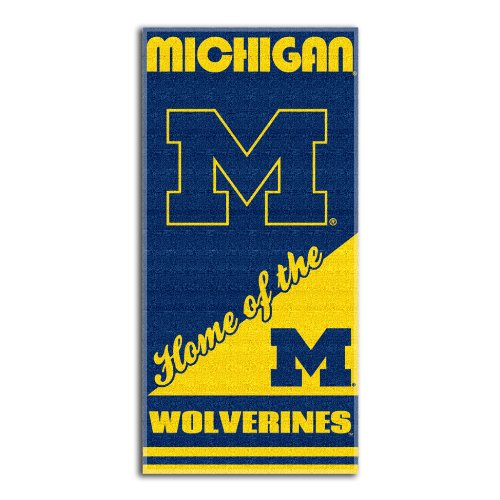 NCAA Michigan Wolverines Home Beach Towel, 28 x 58-Inch