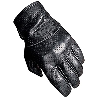 Olympia Sports Men's Perforated Full Throttle Gloves (Black, Medium)