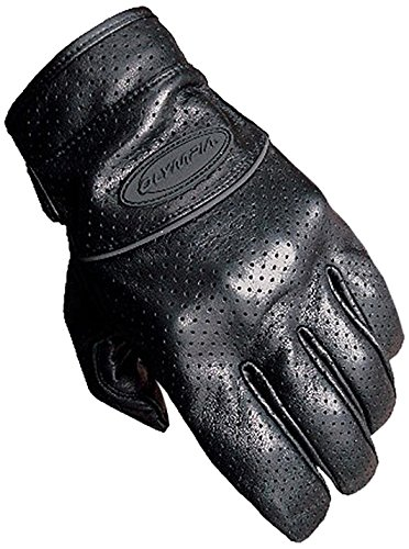 Olympia Sports Men's Perforated Full Throttle Gloves (Black, Large)