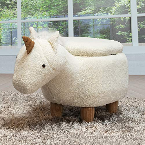 Wool Esprit - Bella E. 6017421 Soft Unicorn Ottoman, Off Off White