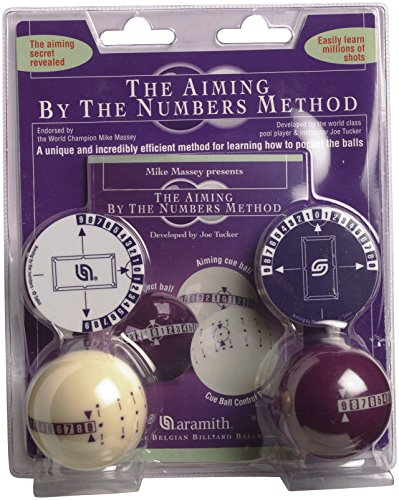Aramith Genuine Training by The Numbers Learning/Aiming Pool/Billiards Ball Set