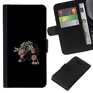 JackGot ( Turtle Pekemon ) Samsung ALPHA G850 la tarjeta de Crédito Slots PU Funda de cuero Monedero caso cubierta de piel