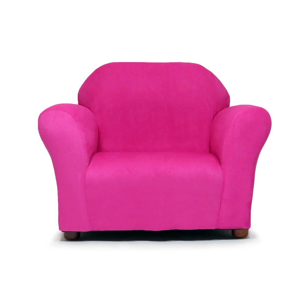 Keet Roundy Microsuede Children's Chair, Hot Pink CR73