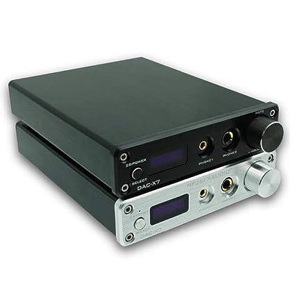 YUEC DAC-X7 DSD256 USB HiFi Decodificador de Audio Amplificador de Auriculares, Amplificador de