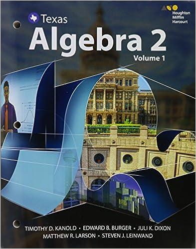 HMH Algebra 2: Interactive Student Edition, Volumes 1 & 2