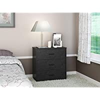 3-drawer Chest/Nightstand, Black