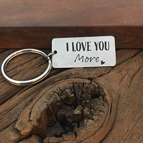 I Love You More Keychain- Guy Keychain Boyfriend Keychain Key chain Keychain Husband Gift Men's Keychain