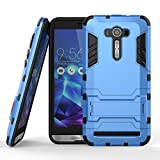 DWay ASUS ZE550KL Case Hybrid Armor Design with Stand Feature 2 In 1 Combo Dual Layer Detachable Protective Shell Phone Hard Back Case Cover for ASUS ZenFone 2 Laser (ZE550KL/ZE551KL) 5.5inches (Light Blue)