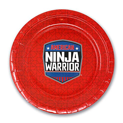 American Ninja Warrior 7 Paper Dessert Plate - Pack of 10 - Perfect for Kids Parties - Official Ninja Warrior Party Supplies for Birthdays, Grill Outs & More
