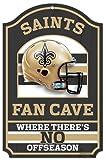 """NFL New Orleans Saints 05921010 Wood Sign, 11"""" x 17"""", Black"""