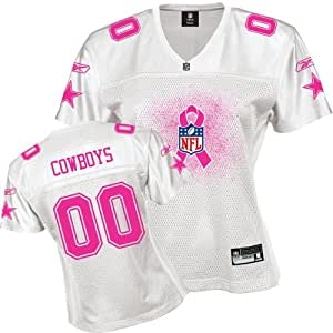 Reebok Dallas Cowboys Women's 2011 Breast Cancer Awareness Fashion Jersey Small