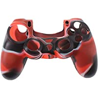 Silicone Rubber Case Skin Cover for PS4 Controller Red