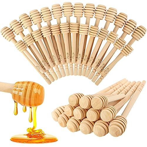 HANSGO Honeycomb Stick, 40PCS 3 Inch and 6 Inch Mini Wood Honey Dipper Sticks Honey Stirrer Honey Wand for Honey Jar Dispense Drizzle Honey and Wedding Party Favors