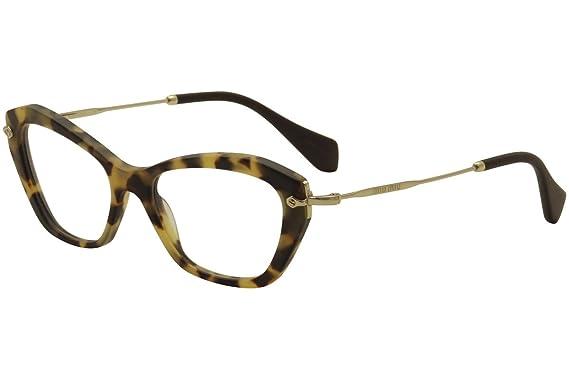 e91cef2c7a5 MIU MIU MU 04LV Eyeglasses HAN1O1 Sand Light Havana 52-17-140  Miu Miu   Amazon.co.uk  Clothing