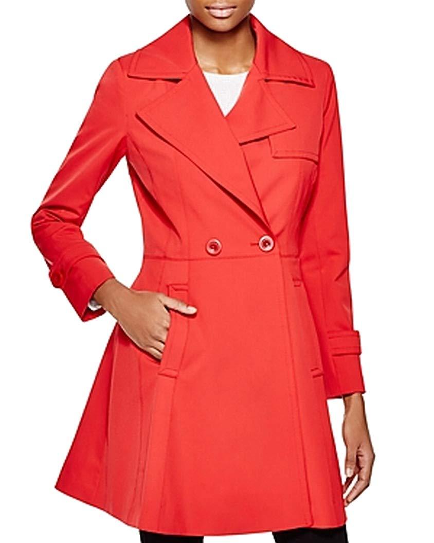 Trina Turk Women's Phoebe Trench Coat, Red, 4