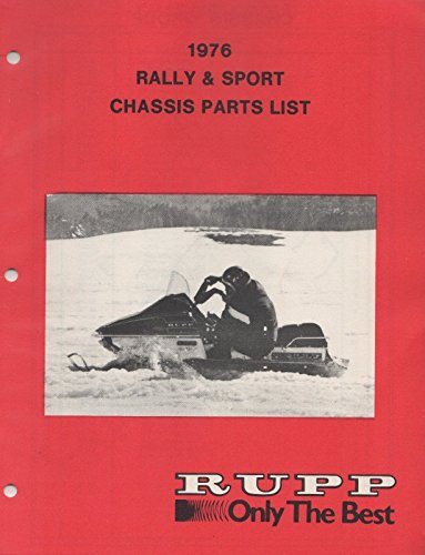 1976 ORIGINAL RUPP SNOWMOBILE CHASSIS ENGINE PARTS MANUAL (628) (Snowmobile Chassis)