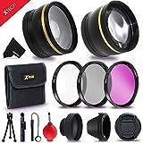 58mm Accessory Kit for CANON EOS 80D 70D EOS 60D EOS Rebel T7i T6 T6i T5 T5i T4i T3 T3i T2i XTi 1200D 1100D 700D 650D 600D 550D EOS M DSLR Cameras (58mm Lens Accessories Kit)