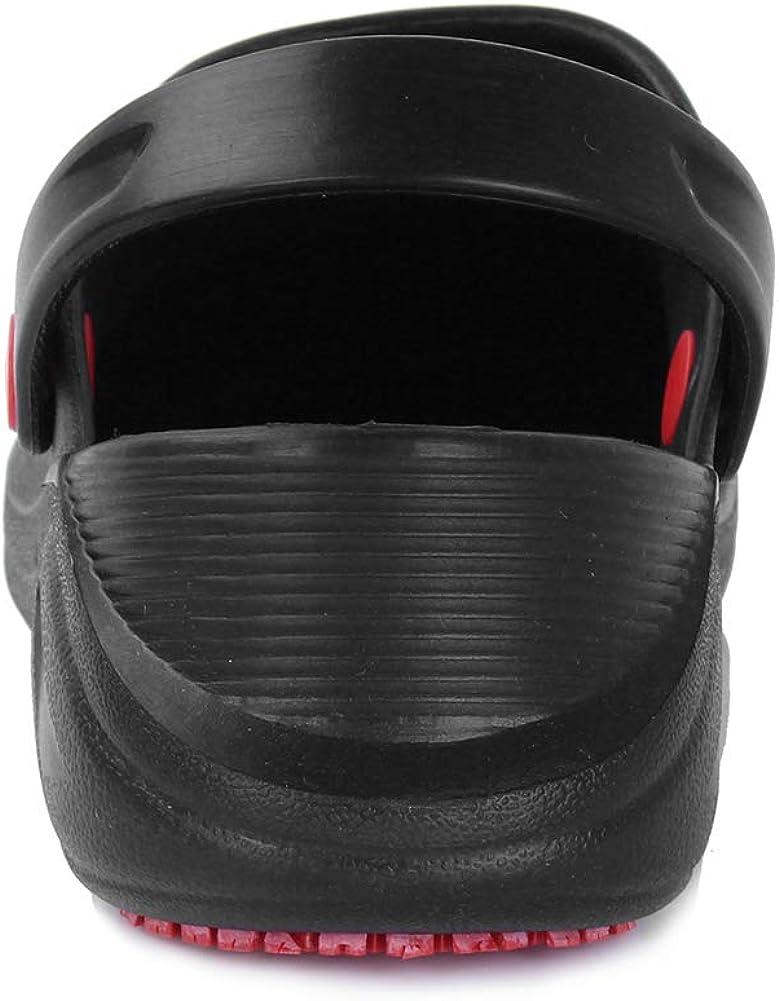 FANTURE Men Slip Resistant Specialist Chef Clogs Mulitfunctional Restaurant Kitchen Garden Safety Work Medical Shoes