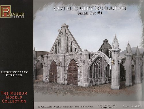 Pegasus Hobby Gothic City Building Small Set 1