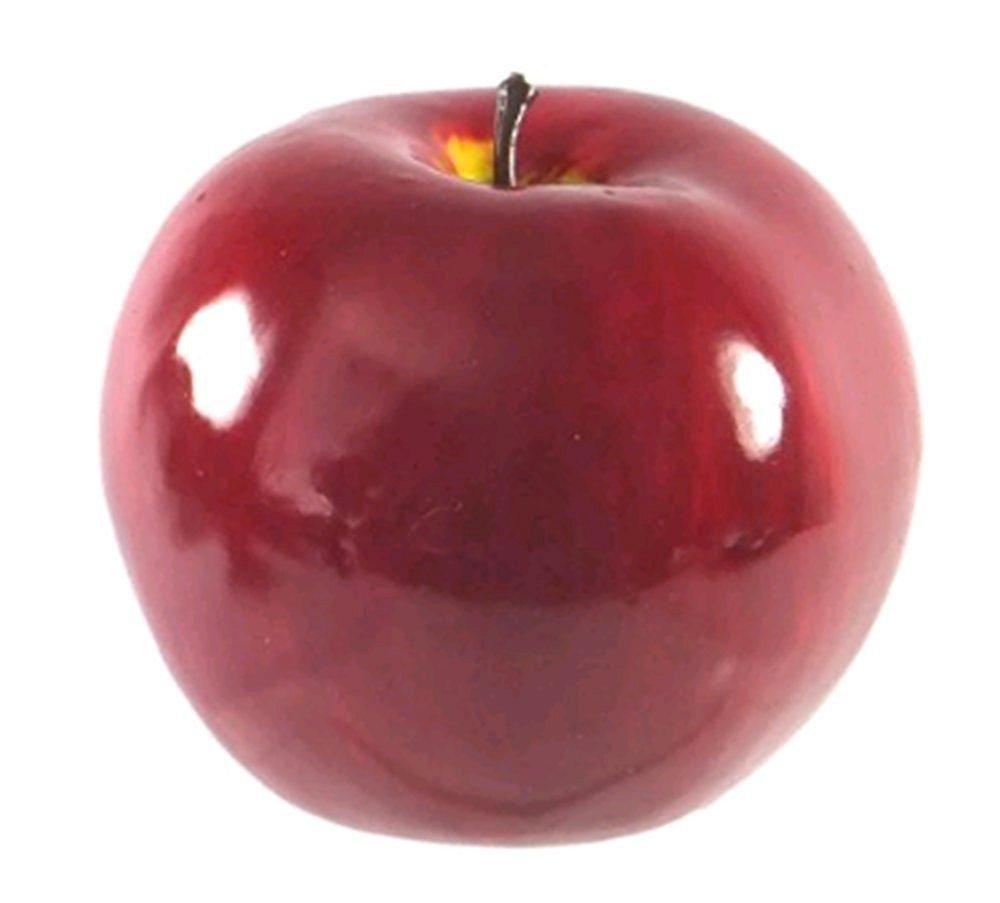 Dect 4pcs Artificial Green Apples,Plastic Fruit