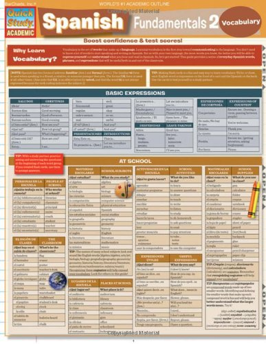 Spanish Fundamentals 2 (Quick Study Academic)