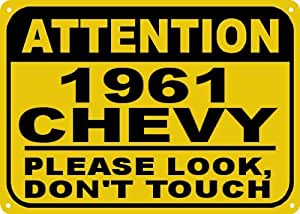 1961 61 CHEVY CORVAIR Don't Touch Sign - 10 x 14 Inches