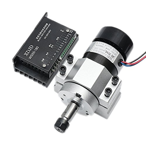 CoCocina 400W 12000rpm ER11 Chuck CNC Brushless Spindle Motor with Driver Speed Controller and Clamp