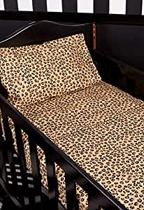 Metallic Cowboy Cot Sheet Set (Leopard)