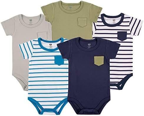 Hudson Baby Unisex Baby 5-Pack Hanging Bodysuit