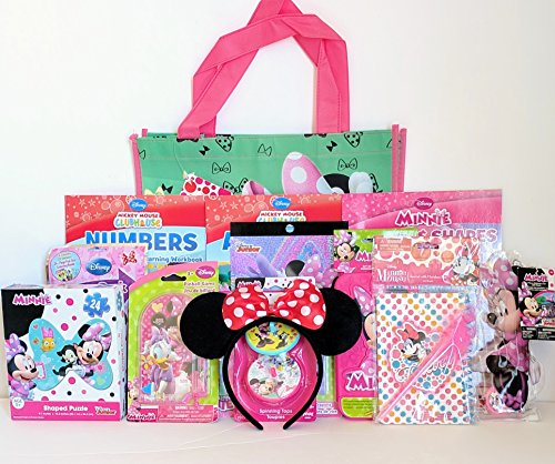 Jumbo Disney Minnie Mouse Coloring & Activity Gift Set with Reusable Minnie Mouse Tote Bag, Minnie Mouse Ears, Educational Workbooks & Much (Disney Sibling Halloween Costumes)