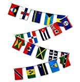 Cheap 30ft String Flag Set of 20 Caribbean Country Flags